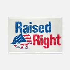 Raised Right Rectangle Magnet (100 pack)