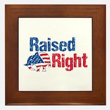 Raised Right Framed Tile