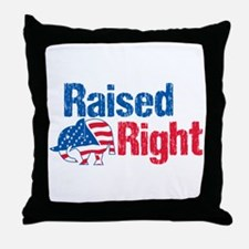 Raised Right Throw Pillow