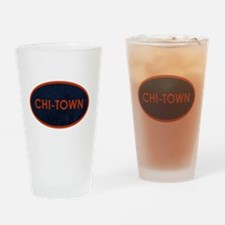 CHI TOWN Blue Stone Drinking Glass