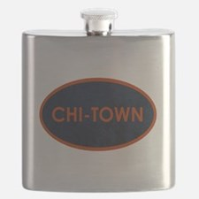CHI TOWN Blue Stone Flask