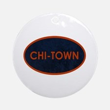 CHI TOWN Blue Stone Ornament (Round)