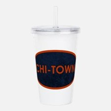 CHI TOWN Blue Stone Acrylic Double-wall Tumbler
