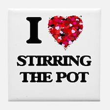 I love Stirring The Pot Tile Coaster