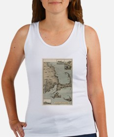 Vintage Map of Cape Cod (1885) Tank Top