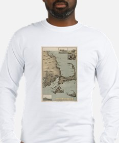 Vintage Map of Cape Cod (1885) Long Sleeve T-Shirt