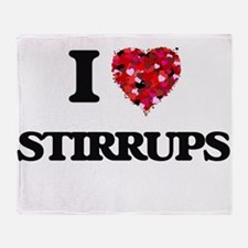 I love Stirrups Throw Blanket