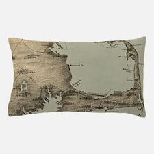 Vintage Map of Cape Cod (1885) Pillow Case