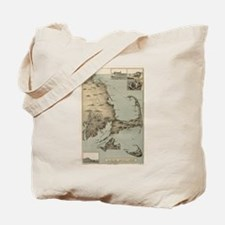 Vintage Map of Cape Cod (1885) Tote Bag