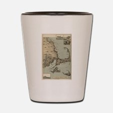 Vintage Map of Cape Cod (1885) Shot Glass