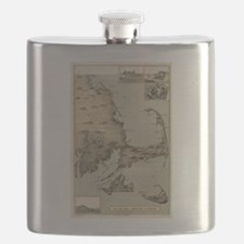 Vintage Map of Cape Cod (1885) Flask
