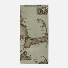 Vintage Map of Cape Cod (1885) Beach Towel