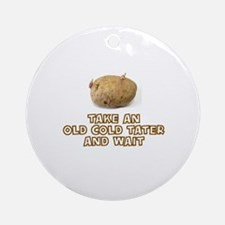 Cute Tater Round Ornament