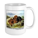 GOLDEN RETRIEVER, IRISH & GORDON Large Mug