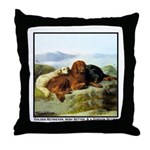 GOLDEN RETRIEVER, IRISH & GORDON Throw Pillow