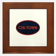 CHI TOWN Blue Stone Framed Tile
