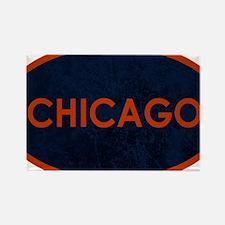 Chicago Orange Blue Stone Magnets