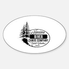 Nanaimo River Sticker (Oval)