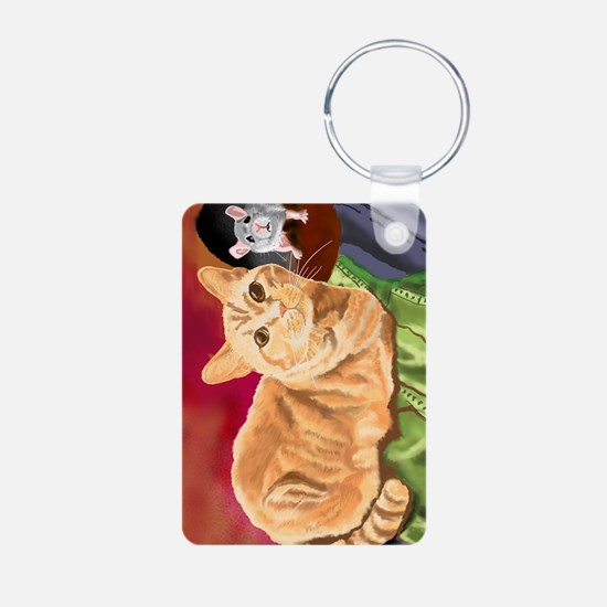 Cool Orange tabby cat Keychains