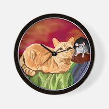 Unique Orange susan Wall Clock