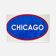 Chicago Light Blue Stone Rectangle Magnet