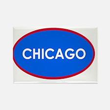Chicago Light Blue Simple Rectangle Magnet