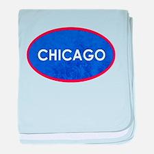 Chicago Light Blue Stone baby blanket