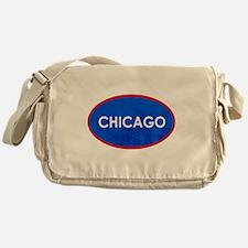 Chicago Light Blue Stone Messenger Bag