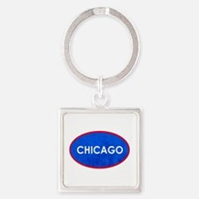 Chicago Light Blue Stone Keychains