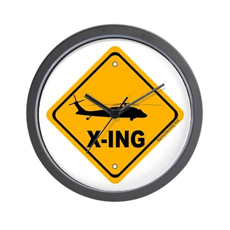 Copter X-ing Wall Clock