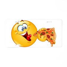 pizza emoji Aluminum License Plate