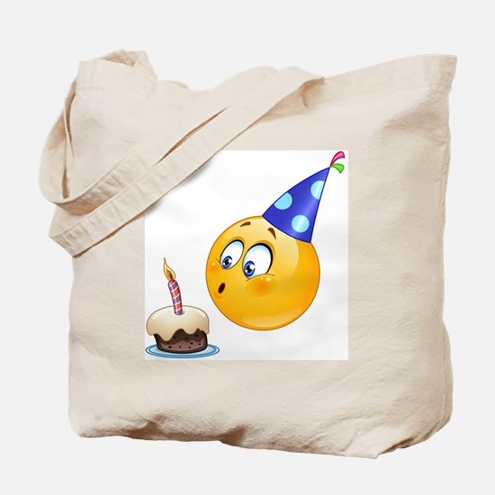 birthday emoji Tote Bag