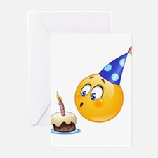 birthday emoji Greeting Cards