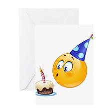 birthday emoji Greeting Cards