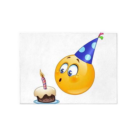 birthday emoji 5'x7'Area Rug by Admin_CP13506533