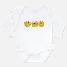three monkeys emojis Body Suit