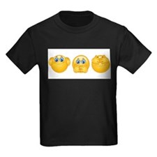 three monkeys emojis T-Shirt