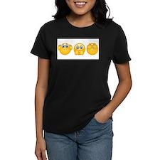 three monkeys emojis T-Shirt