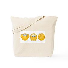 three wise emojis Tote Bag