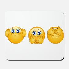 three wise emojis Mousepad