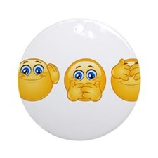 three wise emojis Ornament (Round)