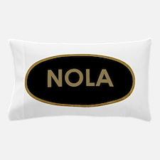 NOLA BLACK AND GOLD Pillow Case