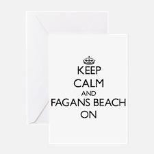 Keep calm and Fagans Beach Hawaii O Greeting Cards