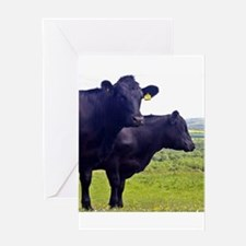 Cley Cows II - Original Square Greeting Cards