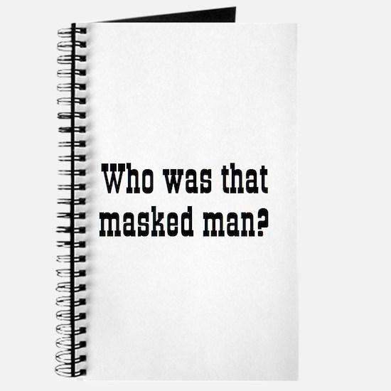 masked man Journal