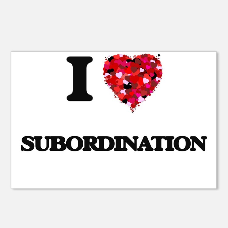 I love Subordination Postcards (Package of 8)
