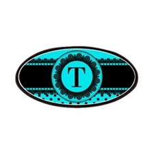Turquoise Black Polka Dots Patch