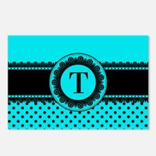 Turquoise Black Polka Dot Postcards (Package of 8)