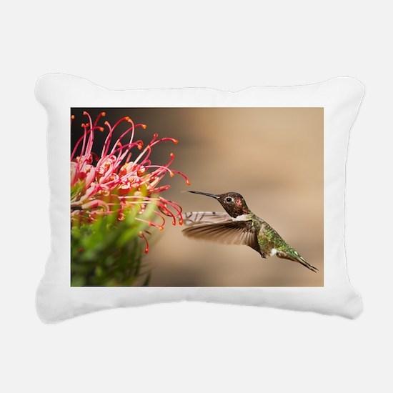 Unique Hummingbird Rectangular Canvas Pillow