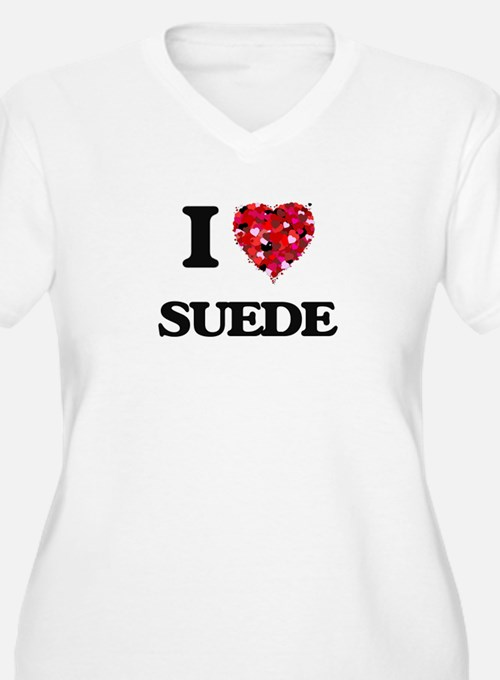 I love Suede Plus Size T-Shirt